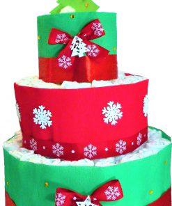 Karácsonyi 3 emeletes pelenkatorta