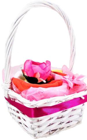 fonott kosár lány tavaszi babaruha csomag