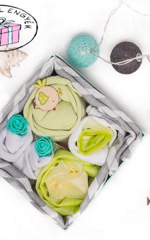 kisfiú babakelengye csomag tavaszi babáknak
