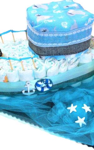 kisfiús hajó pelenkatorta 11