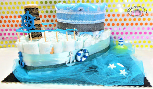 kisfiús hajó pelenkatorta 2