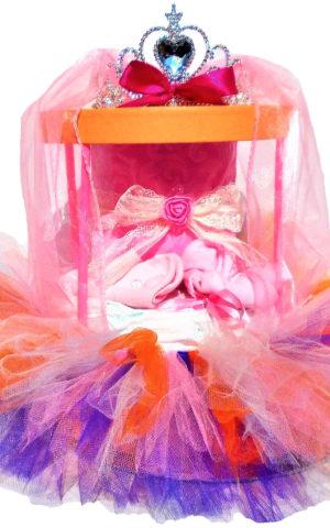 kislányos tüllszoknyás dobozos pelenkatorta