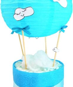 léggömb mini pelenkatorta kék