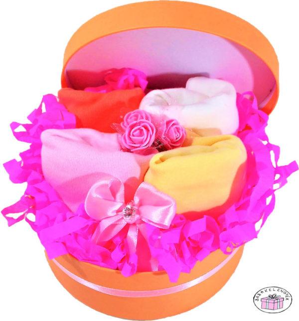 újszülött kislány ruhacsomag doboz